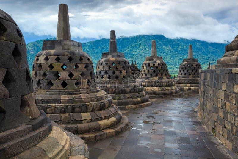 Templo Yogyakarta de Borobudur. Java, Indonesia fotografía de archivo