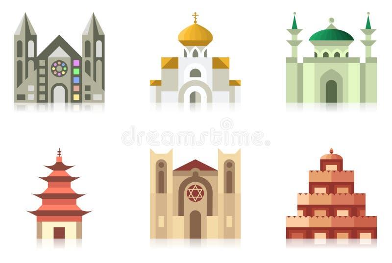 Templos ilustração royalty free