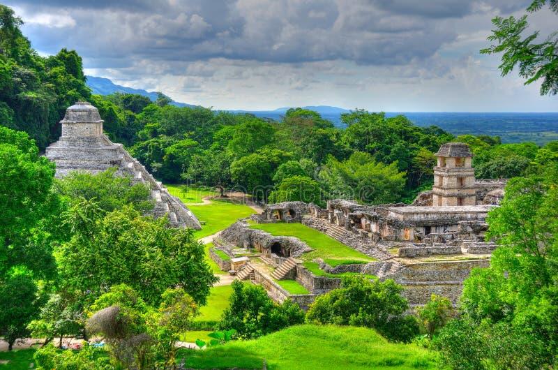 Templos antigos do Maya de Palenque, México foto de stock royalty free