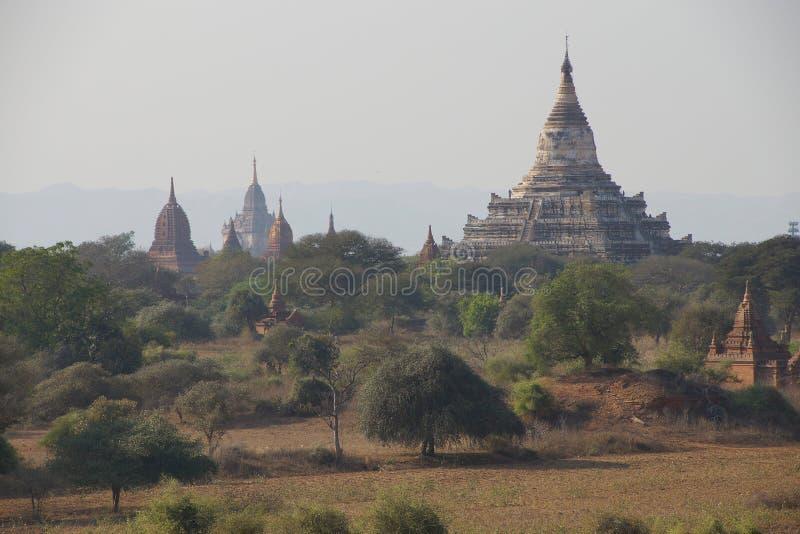 Templos antigos e stupas foto de stock royalty free