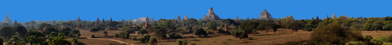 Templos antigos e stupas imagens de stock royalty free