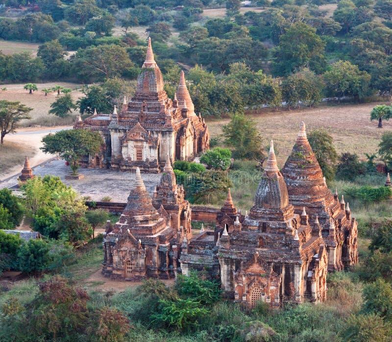 Templos antigos na zona arqueológico de Bagan, Myanmar fotos de stock royalty free