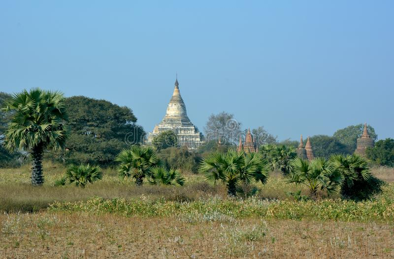 Templos budistas antiguos hermosos Bagan, Myanmar foto de archivo