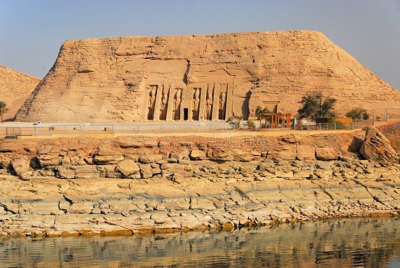 Templos de Abu Simbel imagen de archivo