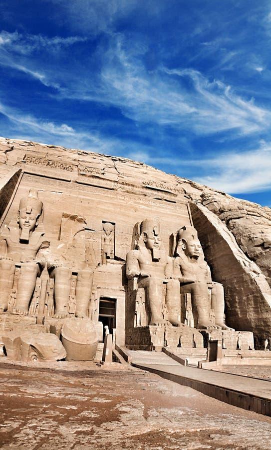Templos de Abu Simbel, Egipto del sur antiguo imagen de archivo libre de regalías