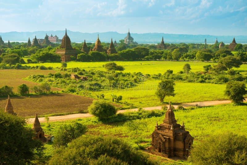 Templos de Bagan fotografia de stock royalty free