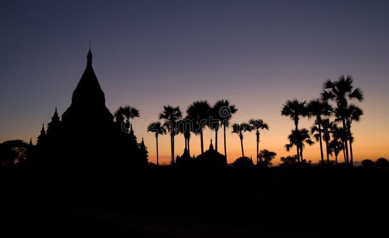 Templos de Bagan imagem de stock