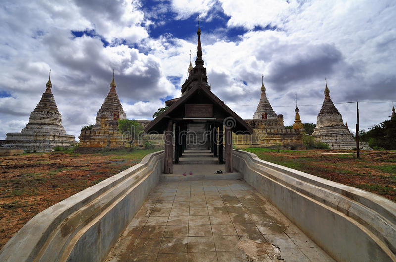 Templos de Bagan Myanmar fotografía de archivo