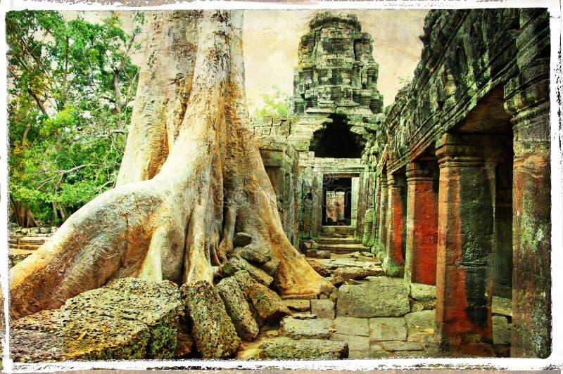 Templos de Camboya ilustración del vector