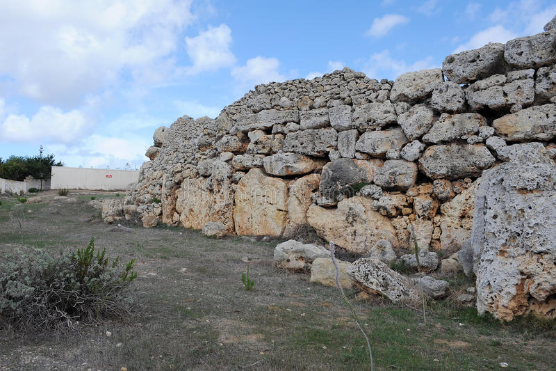 Templos de Ggantija em Gozo, Malta imagens de stock royalty free