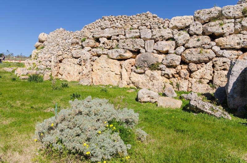Templos de Ggantija - Gozo, Malta imagens de stock royalty free