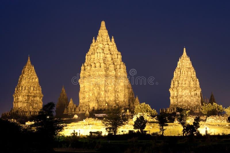 Templos de Prambanan imagen de archivo libre de regalías