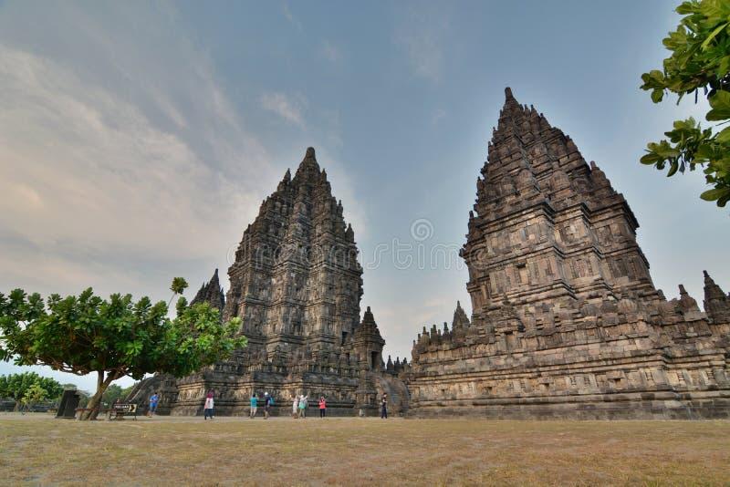 Templos de Prambanan Região de Yogyakarta java indonésia fotos de stock royalty free