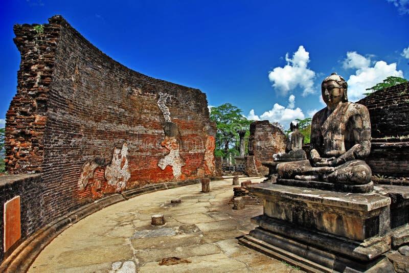 Templos de Sri Lanka fotografia de stock