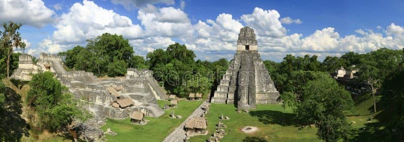 Templos de Tikal fotografía de archivo libre de regalías