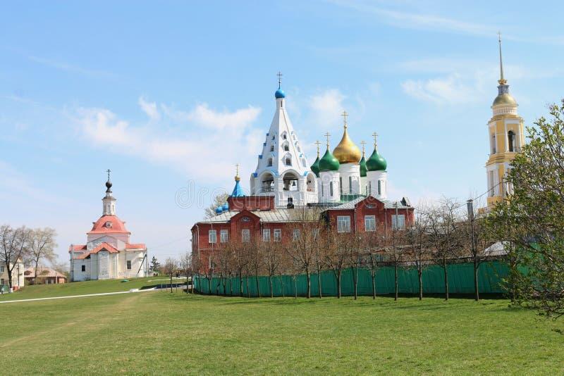 Templos do Kremlin de Kolomna fotos de stock royalty free