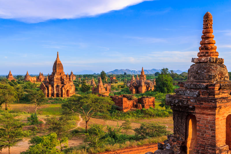 Templos em Bagan, Myanmar fotos de stock royalty free