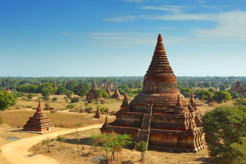 Templos em Bagan, Myanmar foto de stock