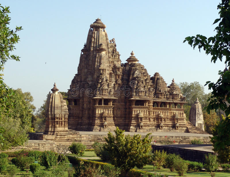 Templos em Khajuraho, India foto de stock royalty free