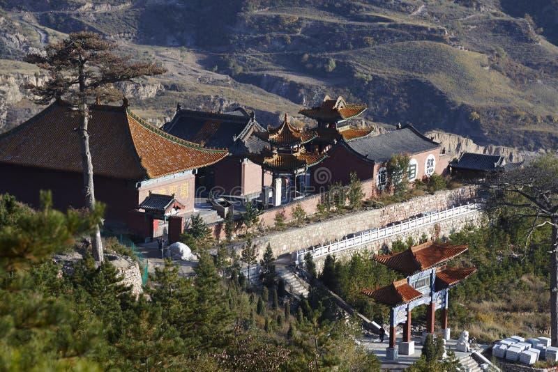 Templos en la montaña Hengshan fotos de archivo