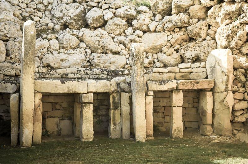Templos neolithic de Ggantija imagem de stock royalty free