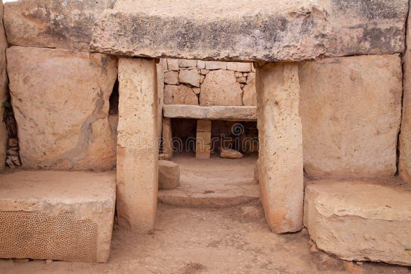 Templos neolithic de Mnajdra. Malta imagens de stock