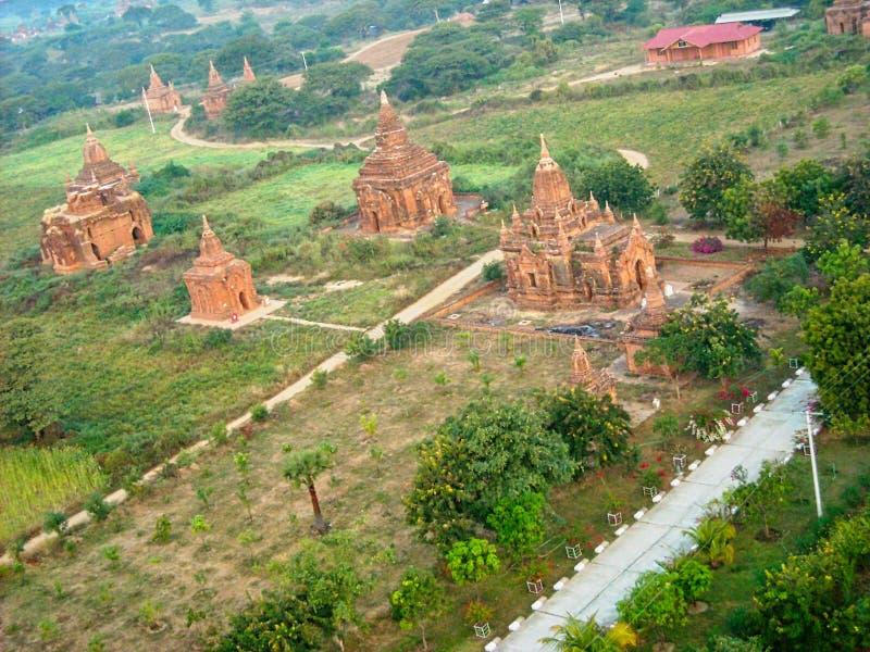 templos velhos na opinião de Vietnam de cima de imagem de stock