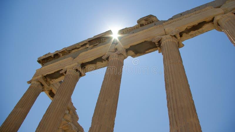 Templs de Erechtheion na acrópole, Atenas imagens de stock