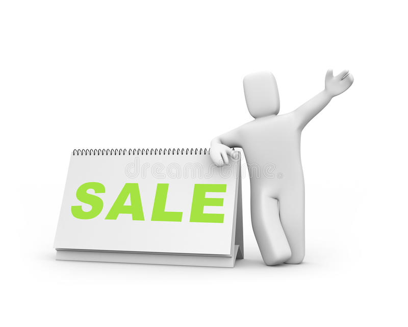 Tempo à venda ilustração stock
