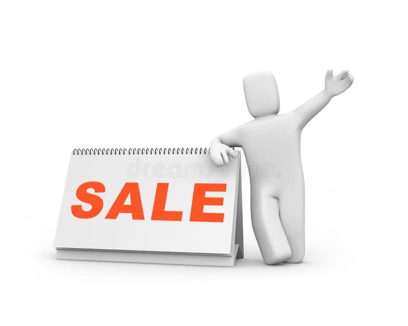 Tempo à venda ilustração do vetor