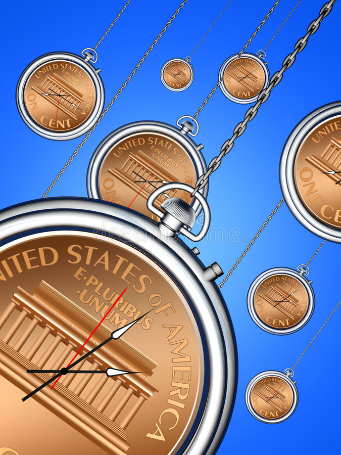 Tempo é dinheiro ilustração stock
