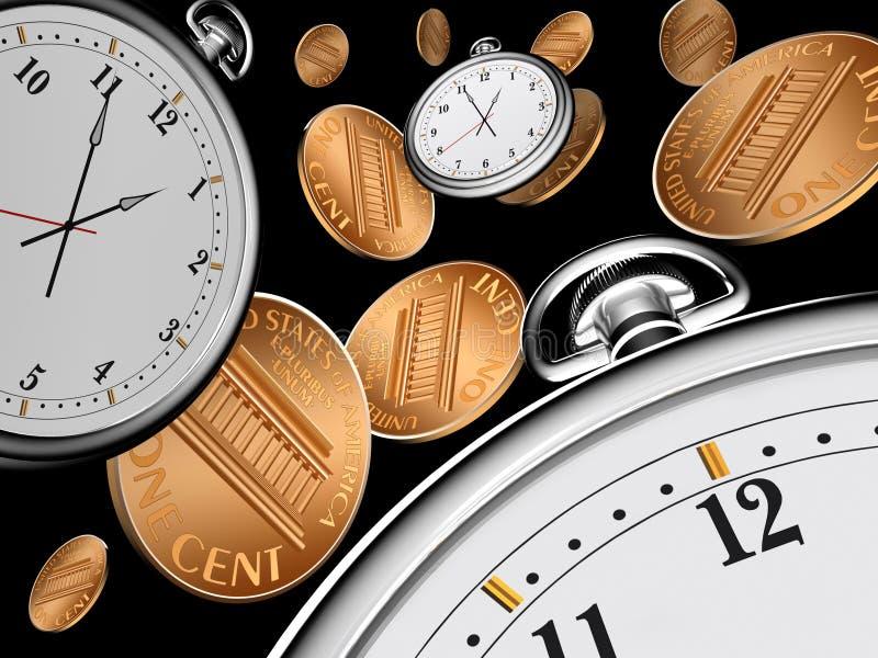 Tempo é dinheiro ilustração do vetor