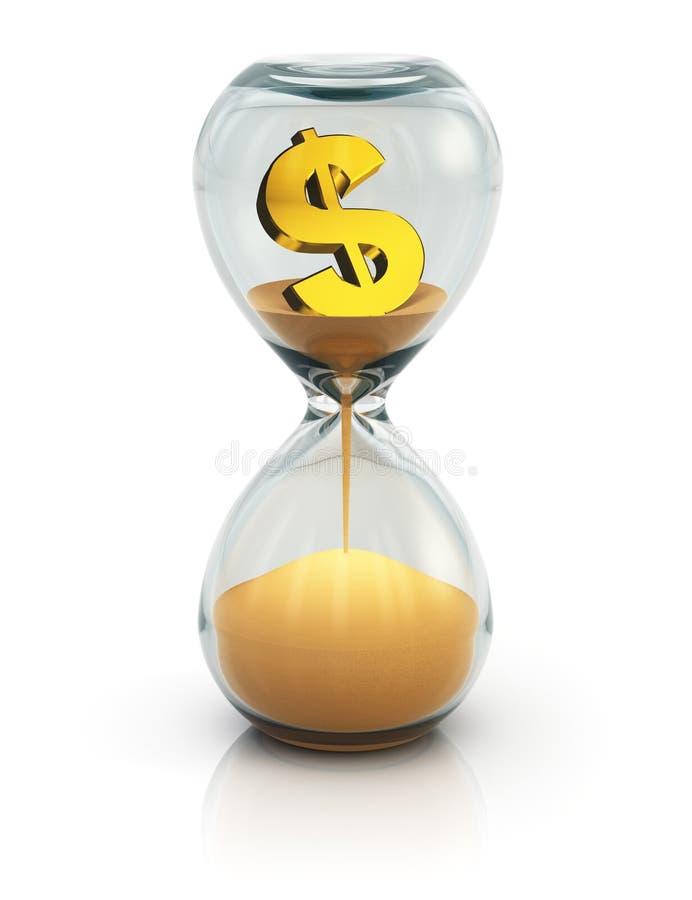 Tempo é dinheiro conceito ilustração do vetor