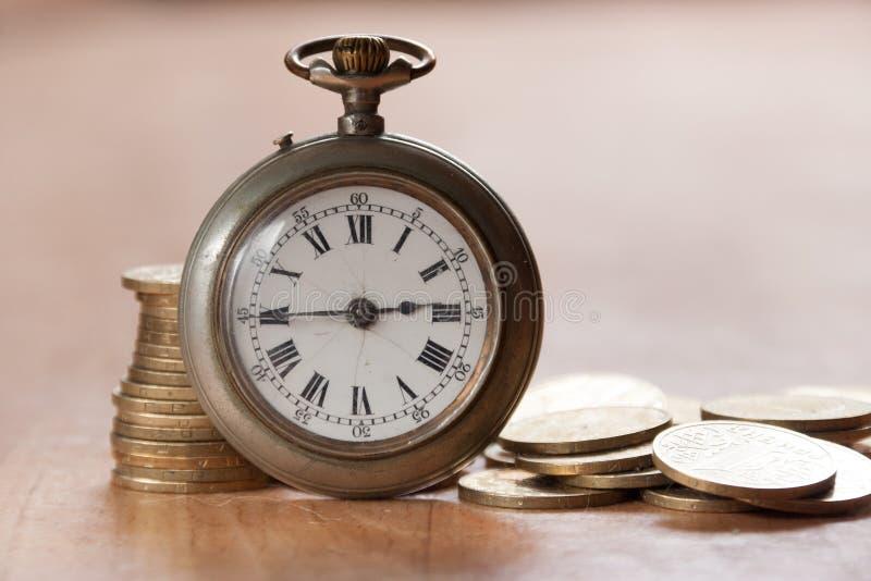 Tempo é dinheiro conceito foto de stock royalty free
