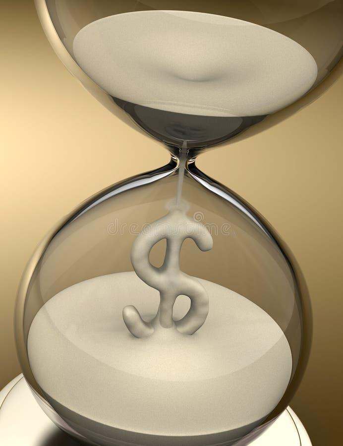 Tempo é dinheiro (hourglass) ilustração stock
