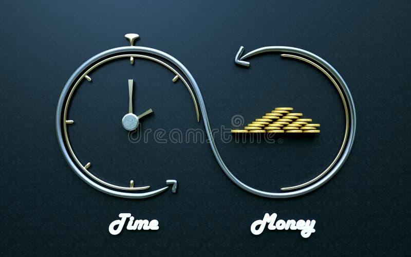 Tempo é dinheiro, investimentos espertos ilustração do vetor