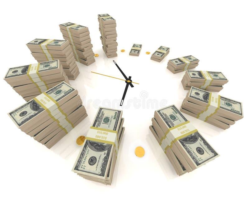 Tempo é dinheiro. no branco ilustração royalty free