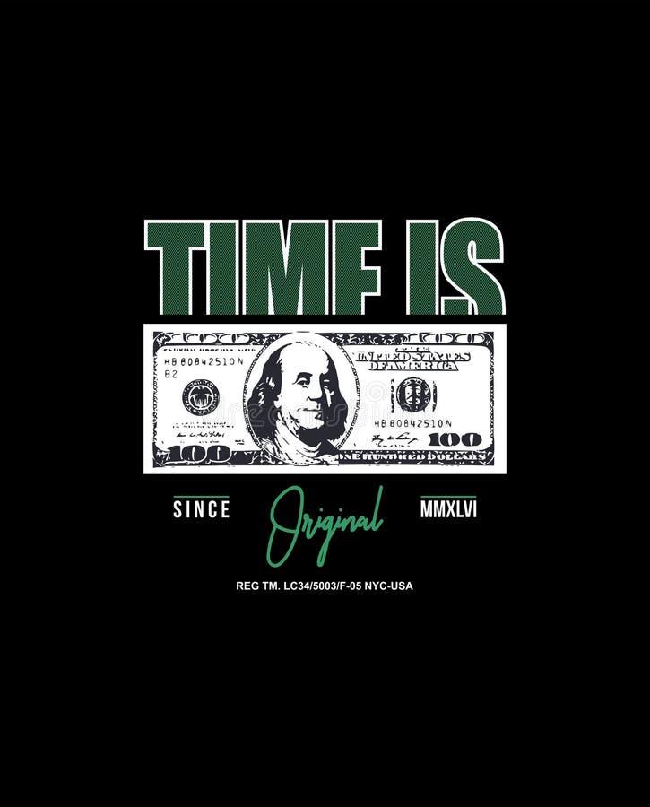 Tempo é dinheiro original desde o mmxlvi ilustração royalty free