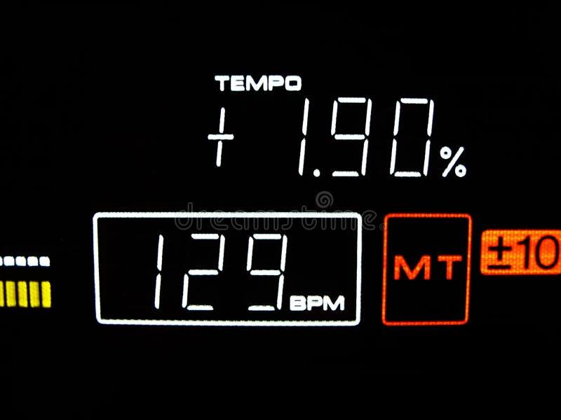 Tempo is 129 BPM royalty free stock photo