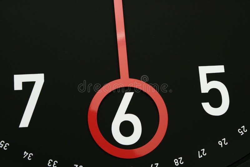 Tempo 6 in punto immagini stock