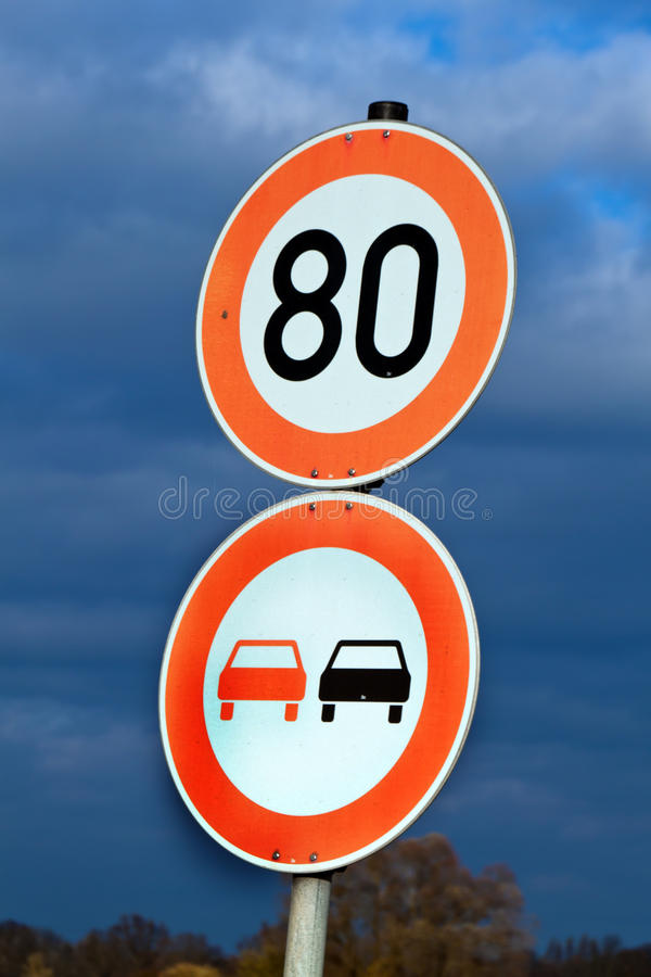 Download Tempo 80 on a country road stock photo. Image of rules - 17107976