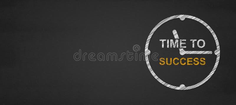 Tempo al concetto di successo Cronometri con tempo di parole a successo sul suo fotografia stock libera da diritti