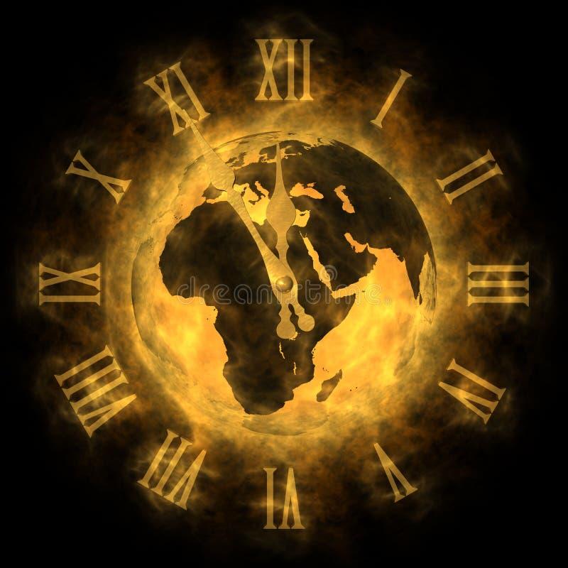 Tempo - aquecimento global e mudança de clima - Europa ilustração royalty free