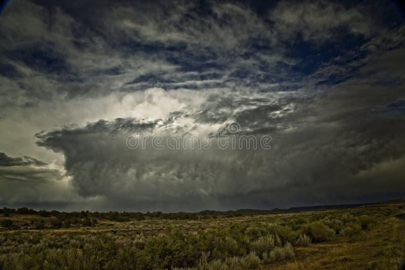 Tempo cambiante nel sud-ovest Colorado immagine stock libera da diritti