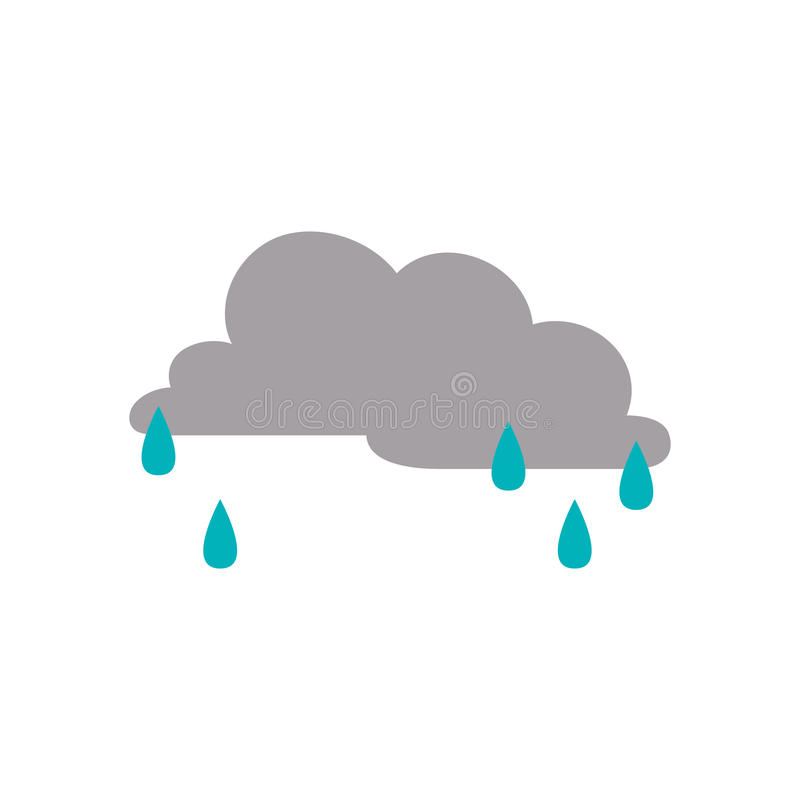 Tempo chuvoso da nuvem ilustração stock