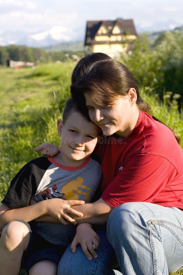 Tempo con la mamma   fotografie stock libere da diritti