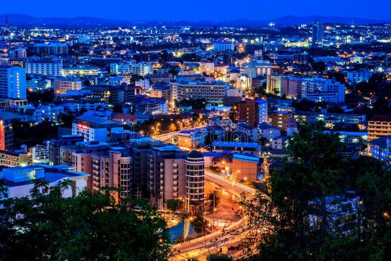 Tempo crepuscolare a Pattaya, la Tailandia immagini stock