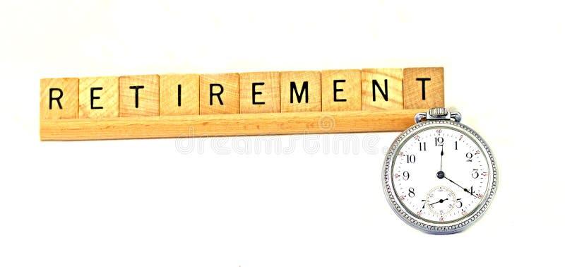 Tempo da aposentadoria imagem de stock royalty free