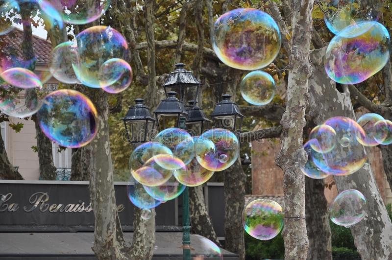Tempo da bolha imagem de stock