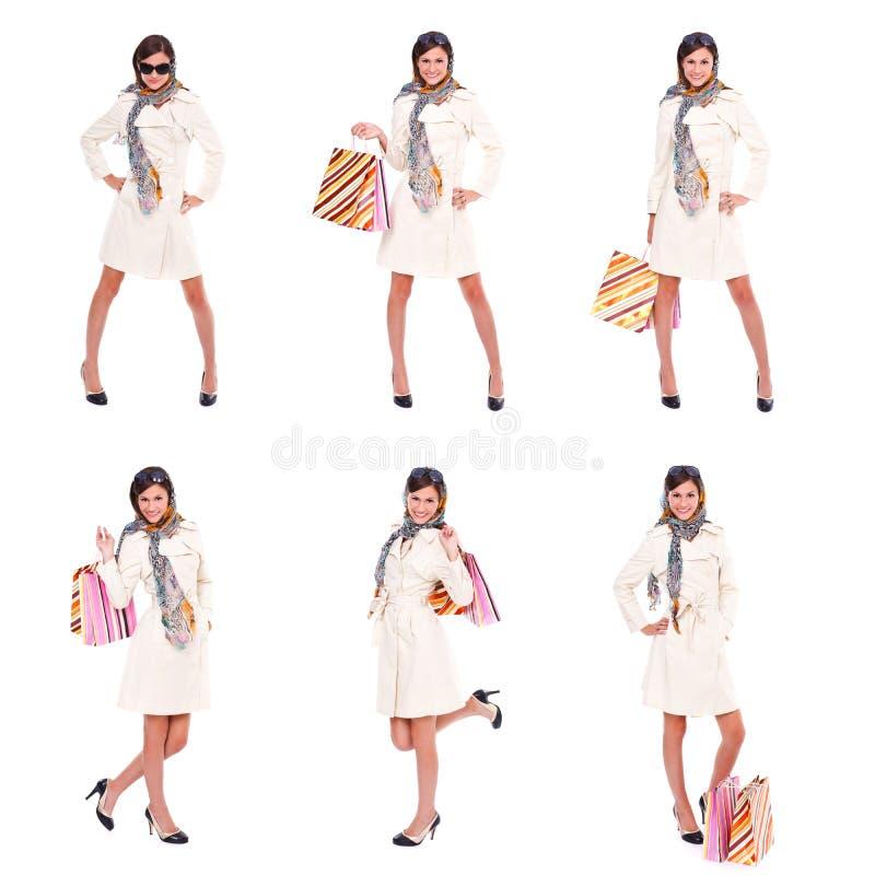 Tempo da compra, colagem foto de stock